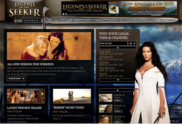 Legend of the Seeker Official site